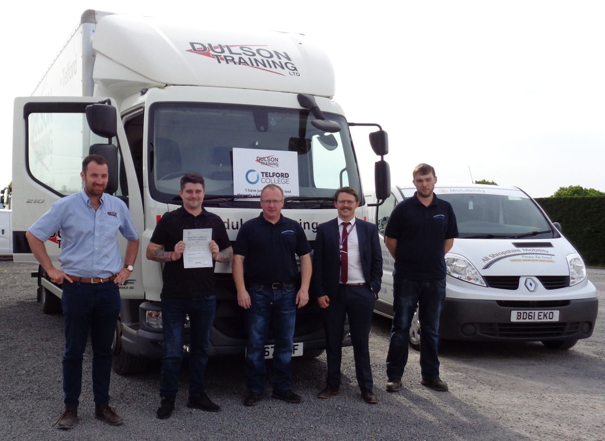 Dulson Training and Telford College Adaptive HGV Controls
